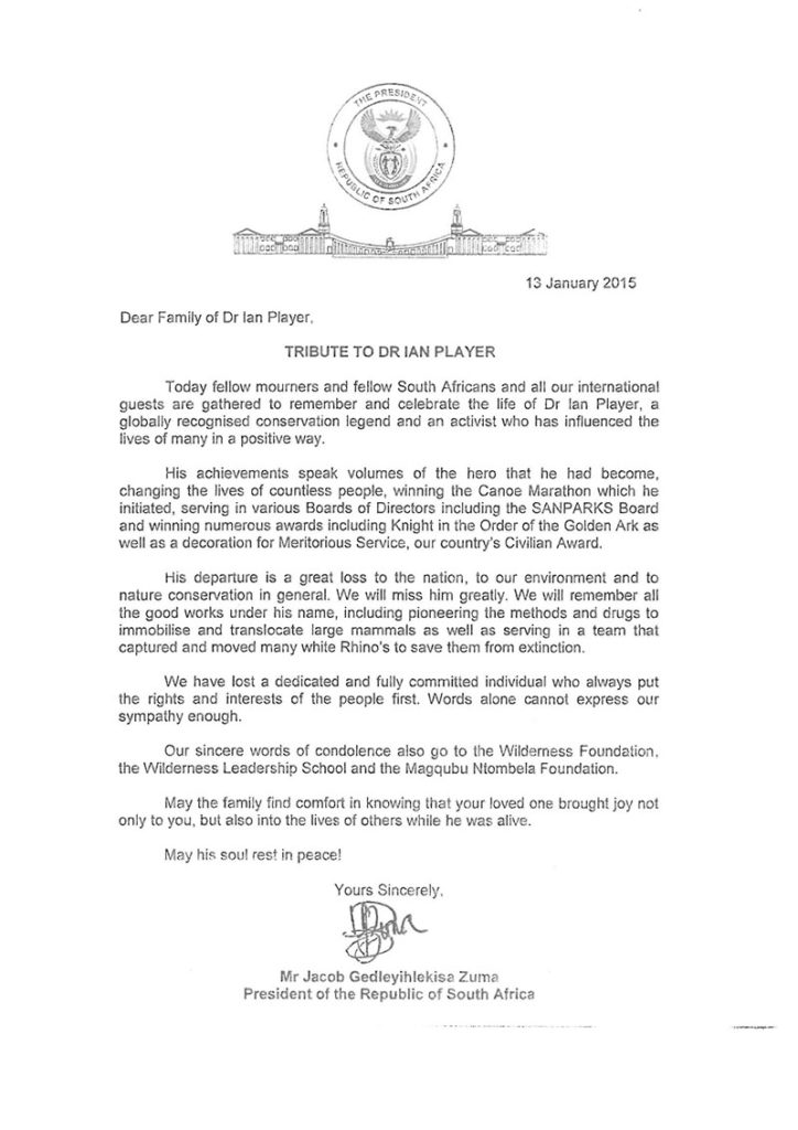 Letter from the Presidancy, Jan 2015