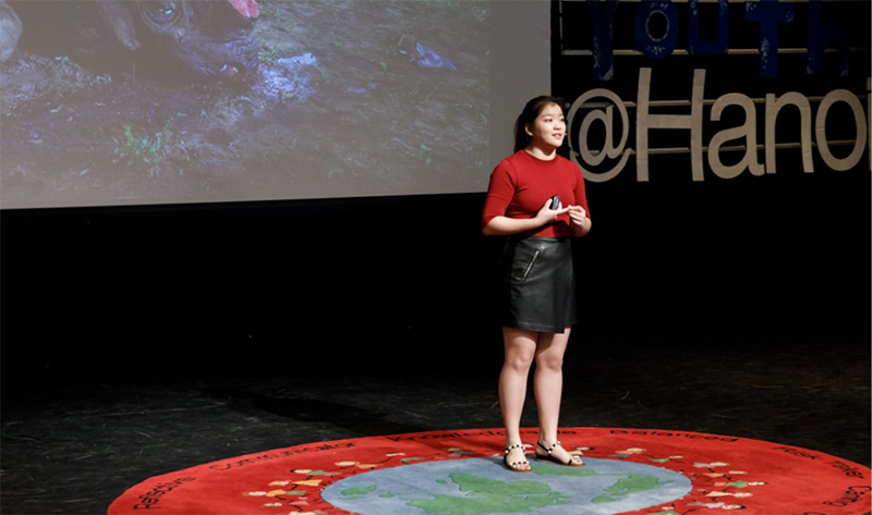 Wild Rhino Youth Ambassador, Haryoung Cho, was recently invited to take part in a TEDx @ Hanoi event